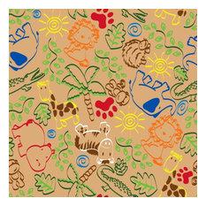 Animal Doodles Multi On Tan Rug