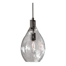 Uttermost Campester 1-Light Watered-Glass Mini Pendant