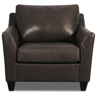 Acme Cocus Chair With Espresso Top Grain Leather Match Finish 55782