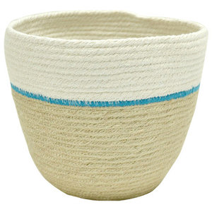 Duet Turquoise Decorative Basket, Small