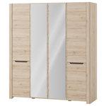 Manhattan Comfort 4 Drawer Eldridge 6 Door Wardrobe
