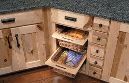 Medallion Cabinets   Wicker Basket Storage