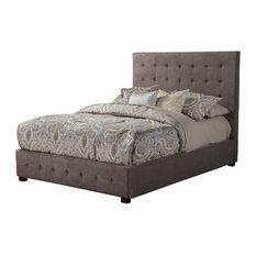 Alpine Furniture, Inc - Alma Tufted Upholstered Bed, Queen - Platform Beds