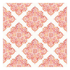 Hmong Warm Wallpaper, Orange and Red