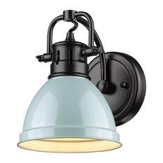 Golden Duncan 1-LT Bath Vanity Light 3602-BA1 BLK-SF, Matte Black