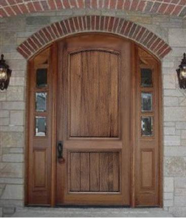 Arch Top Mahogany Doors