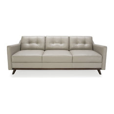Moroni - Monika Medium Gray Full Leather Sofa - Sofas
