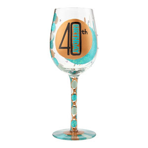 Top Shelf Aged to Perfection Hand Painted Pilsner Glass