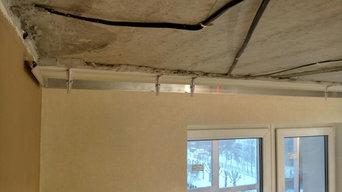 Квартира с интересными задумками по потолкам.