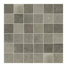 Maps Porcelain Mosaic Tile, Matte Dark Grey 300x300, 30 Boxes