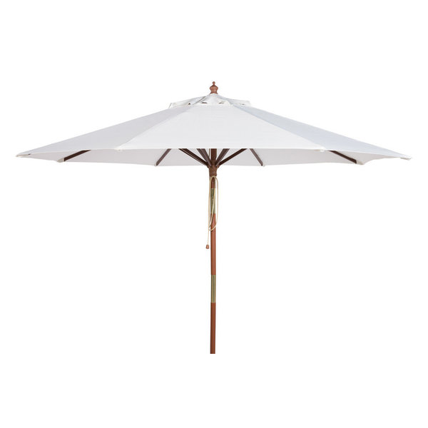 Serene and soothing, Arizona\'s most revered spa retreat inspired the timeless style of this nine-foot wooden umbrella. Designed to blend seamlessly into any tasteful decor, its easy-to-match colors makes it an investment for a healthy outdoor lifestyle.Open Dimensions: 105.51\