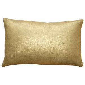 4fdd2e32368 Pillow Decor - Tuscany Linen Gold Metallic 12 x 20 Throw Pillow