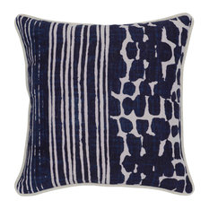 Kosas - Kosas Home Tanza Linen Pillow, Blue - Decorative Pillows
