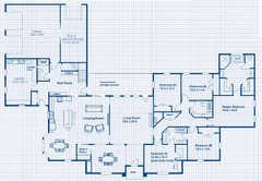 One Story 5 bedroom house plans on any websites??