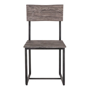 New Orleans Weathered Gray Live Edge Chairs, Set of 2, Dining