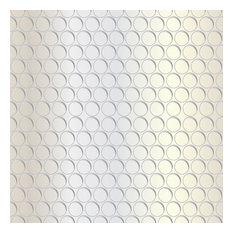 Silver Circles Shelf Paper Drawer Liner, 120x24, Laminated Vinyl