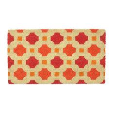 "Catalina Coir Doormat, Red/Orange, 18""x30"" by Kosas Home"