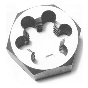 "1-1//8/""-12 Carbon Steel Hex Rethreading Die DWTHX11812"