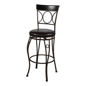 Crested Back Counter Stool 24 Quot Traditional Bar Stools