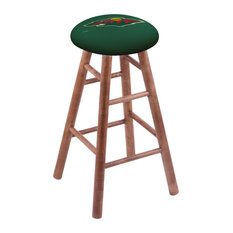 Maple Counter Stool Medium Finish With Minnesota Wild Seat 24-inch