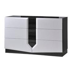 Dresser Zebra Gray and White HG