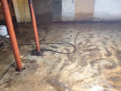 Basement Floor Nightmare Epoxy Asbestos And Mastic Oh My - Epoxy floor coating over asbestos tile