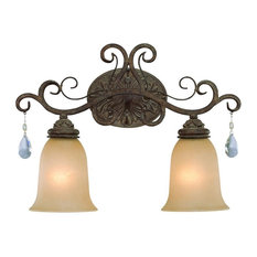 Craftmade 25602 Englewood 2-Light Bathroom Vanity Light, French Roast