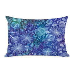 """""""Electric Flowers"""" Indoor Throw Pillow by Ana Victoria Calderon, 14""""x20"""""""