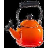 Le Creuset Flame Enamel On Steel Demi Tea Kettle, 1.25 Quart