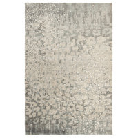 Watercolor Modern Charcoal, Light Gray Area Rug, 2'x3'