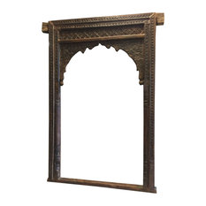 Mogulinterior - Consigned Antique Architectural Spanish-Style Archway, Teak Hand-Carved - Wall Accents