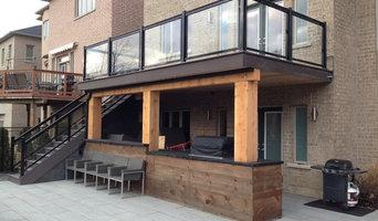 Aluminum glass railings. Deck
