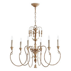 Six Light French Umber Up Chandelier