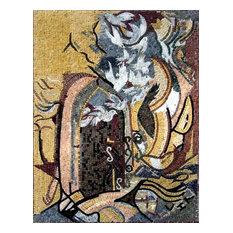 """Mozaico - Mosaic Mural Decor, Abstract Design, 54""""x80"""" - Tile Murals"""