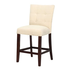 "ACME Furniture Baldwin 24"" Counter Stool in Beige (Set of 2)"