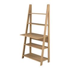 LPD Furniture - Tiva Ladder Desk, Oak - Desks & Writing Bureaus