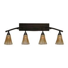 Toltec Lighting 174-BC-720 Bow - Four Light Bath Bar
