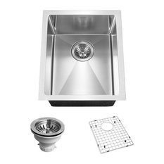 Houzer CNB-1200 Savoir Series 10mm Radius Undermount Prep Bowl Kitchen Sink