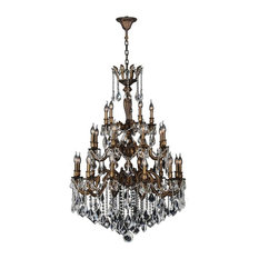 Versailles Collection 25 Light Antique Bronze Finish and Clear Crystal Chandelie