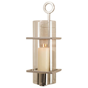 Progressive Ring Sconce Nickel Transitional Wall