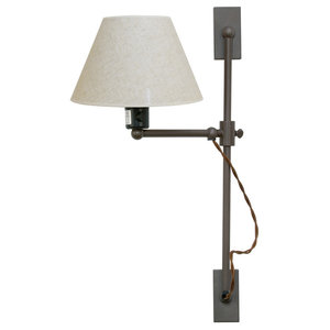 London Wall Lamp With Elevating Mechanism, Cotton
