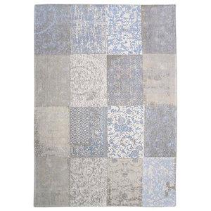 Cameo Multi Gustavian Rug, Blue, 140x200 cm