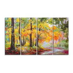 """""""Colorful Autumn Forest"""" Landscape Canvas Artwork"""