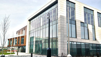aluminium curtain walls and windows installation cover external building
