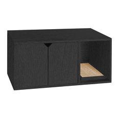 Way Basics   Way Basics Eco Friendly Cat Litter Box With Doors, NonToxic U0026  VOC