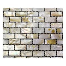 B03 Mother Of Pearl Shell Backsplash Tiles I-Shaped Rectangle Arts Mosaic Tiles