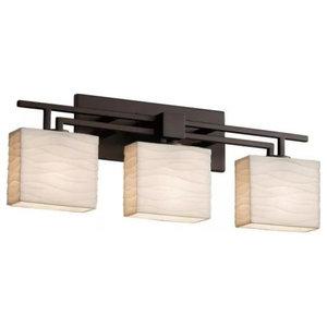 "Justice Design Group PNA-8703-55-WAVE Porcelina 26"" Aero 3 Light Bath Bar"