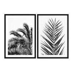 """Eichholtz """"Palm Leaves Palms"""" Framed Prints, 2-Piece Set, 75x105 cm"""
