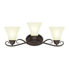 """Westinghouse 6306900 Dunmore 24"""" Wide 3 Light Bathroom Vanity Light with Froste"""