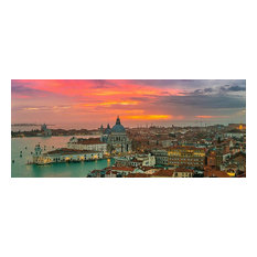 Venice Italy Basilica Panorama Wall Mural, Self-Adhesive Wallpaper